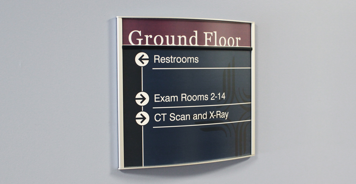 interior directional sign